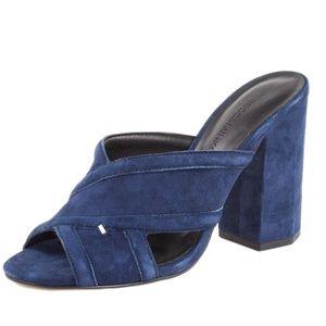 Rebecca Minkoff Ryann suede slide sandals, size 8